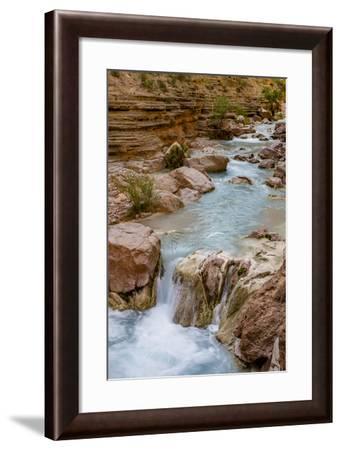 Havasu Creek. Mineral Colored Water. Grand Canyon. Arizona. USA-Tom Norring-Framed Photographic Print