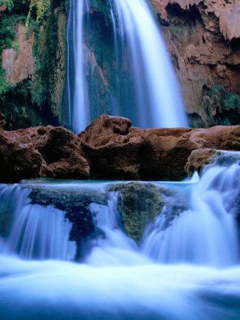 Havasu Falls, Havasupai Indian Reservation, Grand Canyon National Park, Arizona-Mark Newman-Photographic Print
