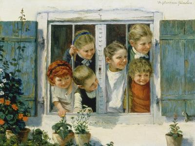 Have a Look, Who Is Coming!-Theodor Kleehaas-Giclee Print