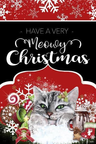 Meowy Christmas.Have A Very Meowy Christmas Flag Sign Giclee Print By Sheena Pike Art And Illustration Art Com