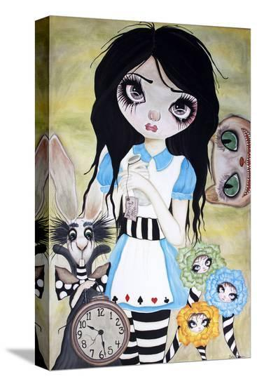 Have I Gone Mad-Dottie Gleason-Stretched Canvas Print