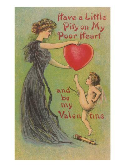Have Pity on my Heart, Victorian Valentine--Art Print