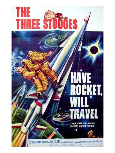 Have Rocket, Will Travel, On the Rocket, From Top: Moe Howard. Larry Fine, Joe Derita, 1959--Photo