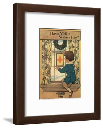 Have You A Red Cross Service Flag?-Lawrence Beall Smith-Framed Art Print
