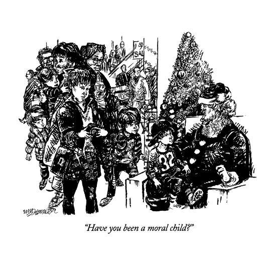 """""""Have you been a moral child?"""" - New Yorker Cartoon-William Hamilton-Premium Giclee Print"""