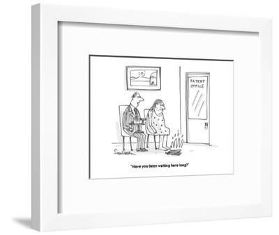 """""""Have you been waiting here long?"""" - Cartoon-Harley L. Schwadron-Framed Premium Giclee Print"""