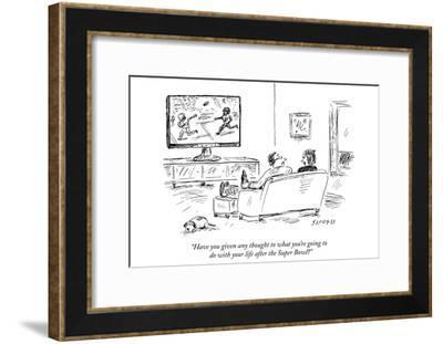 """""""Have you given any thought to what you're going to do with your life afte…"""" - New Yorker Cartoon-David Sipress-Framed Premium Giclee Print"""