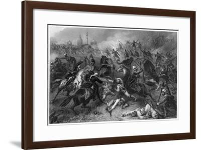 Havelock's Column Attacking the Mutineers before Cawnpore, 1857--Framed Giclee Print
