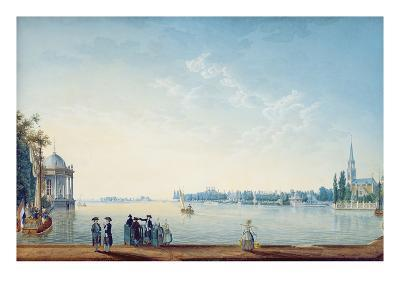 Havenrak to Broek in Waterland, or the City of Zwolle on the Banks of the Ijssel in Holland, 1814-Anton Ignaz Melling-Giclee Print