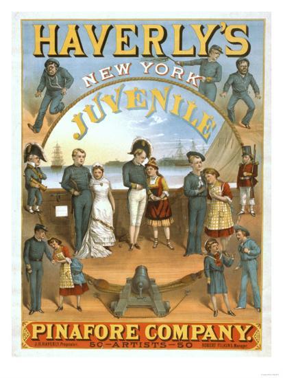 Haverly's New York Juvenile Pinafore Theatre Poster No.1-Lantern Press-Art Print
