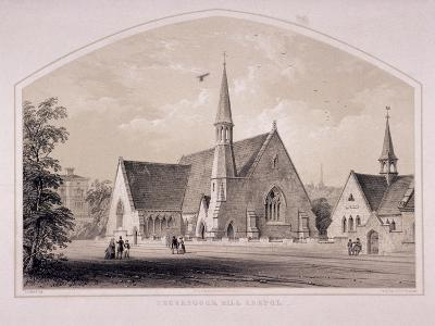 Haverstock Hill Chapel, Hampstead, London, C1850-F Bedford-Giclee Print