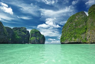 Beautiful Lagoon at Phi Phi Ley Island, the Exact Place Where the Beach Movie Was Filmed