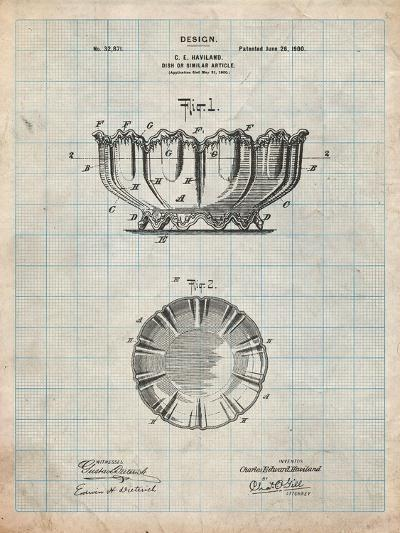 Haviland Decorative Bowl Patent-Cole Borders-Art Print