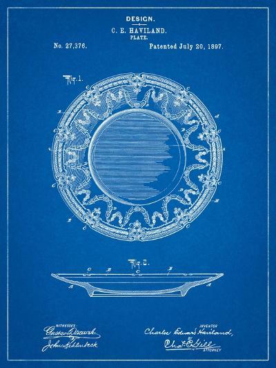 Haviland Dinner Plate Patent-Cole Borders-Art Print