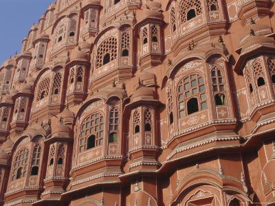 Hawa Mahal, Palace of Winds, Facade from Which Ladies in Purdah Looked Outside, Rajasthan, India-Hans Peter Merten-Photographic Print