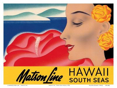Hawaii And South Seas - Matson Lines-Frank MacIntosh-Art Print