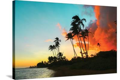 Hawaii Dreaming II HDR--Stretched Canvas Print
