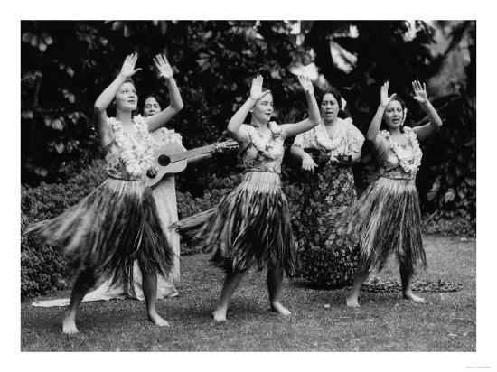 Hawaii - Hula Dancers Photograph-Lantern Press-Art Print