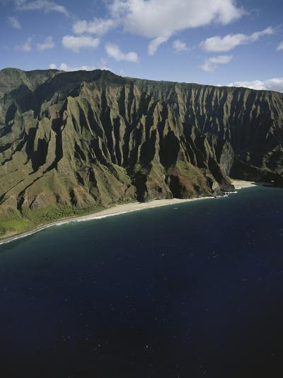 Hawaii Islands, Kauai, Na Pali Coast, View of Kalalau Valley-Douglas Peebles-Photographic Print
