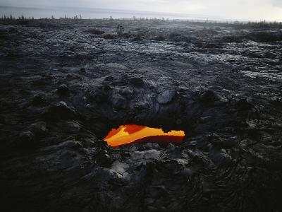 Hawaii Islands, Kilauea, Lava into Ocean-Douglas Peebles-Photographic Print