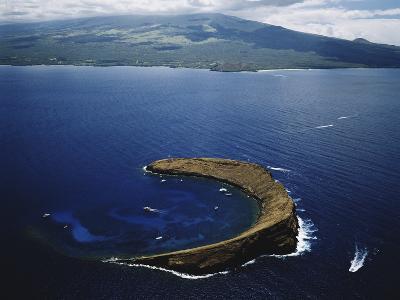 Hawaii Islands, Maui, Wailea-Kihei, View of Molokini Island-Douglas Peebles-Photographic Print