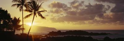 Hawaii Islands, Oahu, Sunset in Island-Douglas Peebles-Photographic Print