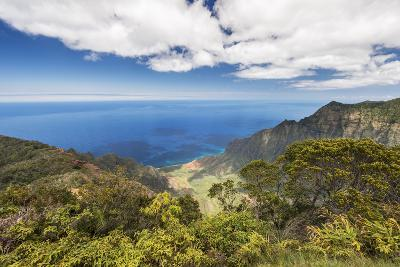 Hawaii, Kauai, Kokee State Park, View of the Kalalau Valley from Kalalau Lookout-Rob Tilley-Photographic Print
