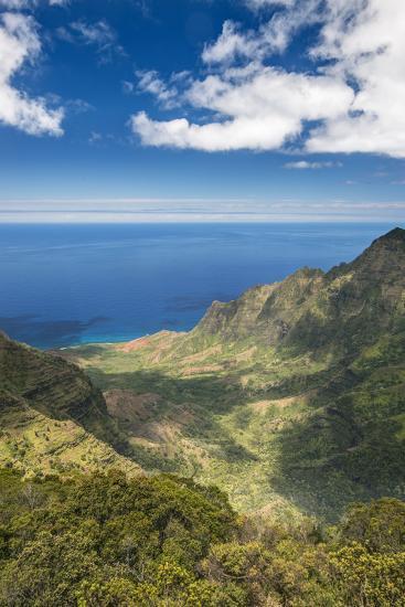 Hawaii, Kauai, Kokee State Park, View of the Kalalau Valley from Pu'U O Kila Lookout-Rob Tilley-Photographic Print