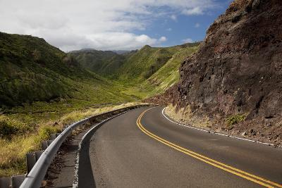 Hawaii, Maui, a Winding Road Through Maui's West Side with Lush Mountains-Design Pics Inc-Photographic Print