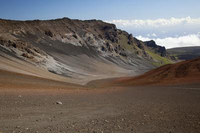 Hawaii, Maui, Haleakala Crater, Mountain and Dirt on the Crater's Floor-Design Pics Inc-Photographic Print