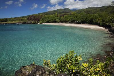 Hawaii, Maui, Hana, a Sunny View of Hamoa Beach with Clear Ocean on a Calm Day-Design Pics Inc-Photographic Print