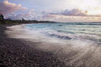 Hawaii, Maui, Hana, Dramatic Seascape of Hana's Black Sand Beach-Design Pics Inc-Photographic Print