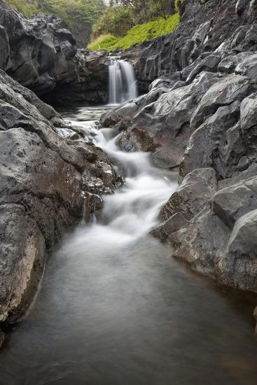 Hawaii, Maui, Hana, Seven Sacred Pools Waterfalls-Design Pics Inc-Photographic Print