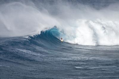 Hawaii Maui. Kyle Lenny Surfing Monster Waves at Pe'Ahi Jaws-Janis Miglavs-Photographic Print