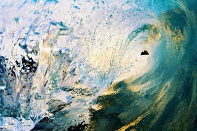Hawaii, Maui, Makena, Beautiful Blue Wave Breaking at the Beach-Design Pics Inc-Photographic Print