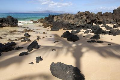 Hawaii, Maui, Makena, Beautiful Clear Ocean Among Lava Rock-Design Pics Inc-Photographic Print