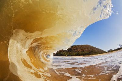 Hawaii, Maui, Makena, Beautiful Wave Breaking at the Beach-Design Pics Inc-Photographic Print