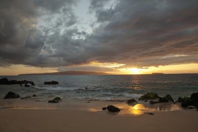 Hawaii, Maui, Makena, Cloudy Sunset at Big Beach-Design Pics Inc-Photographic Print