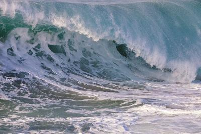 Hawaii, Oahu, Large Waves Along the Pipeline Beach-Terry Eggers-Photographic Print