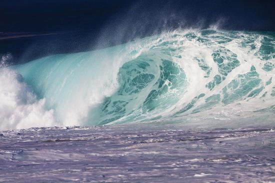 Hawaii, Oahu, Large Waves Along the Pipeline Beach-Terry Eggers-Photographic Print