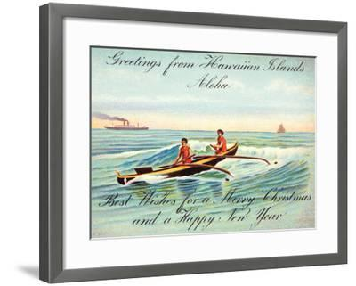 Hawaii, Outrigger, Christmas Greeting