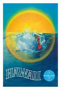 Hawaii - Pan American Airlines (PAA) - Hawaiian Surfer