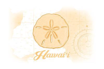 Hawaii - Sand Dollar - Yellow - Coastal Icon-Lantern Press-Art Print