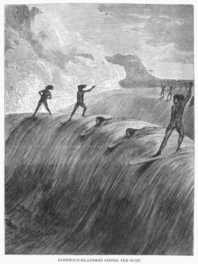 Hawaii: Surfing, 1878--Giclee Print