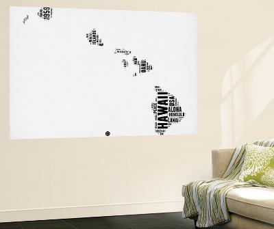 Hawaii Word Cloud 2-NaxArt-Wall Mural