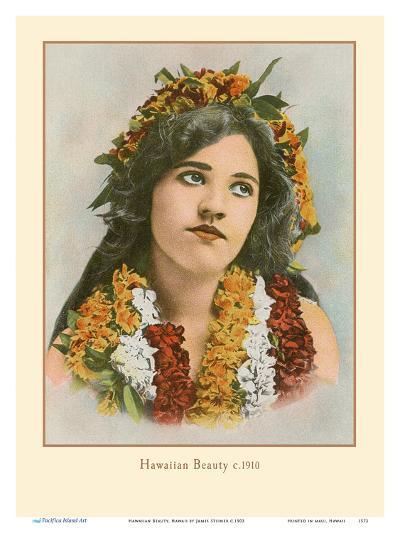 Hawaiian Beauty, Hawaii - Island Curio Co. of Honolulu-James Steiner-Art Print