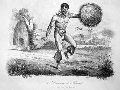 Hawaiian Dancer, C1770-1793-John Webber-Giclee Print