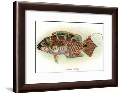 Hawaiian Fish, Pou--Framed Art Print