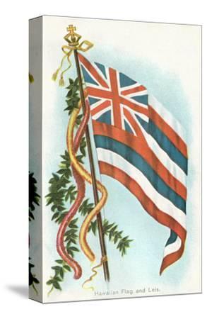 Hawaiian Flag and Leis