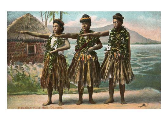 Hawaiian Hula Dancers--Art Print